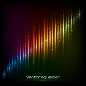 Rainbow neon diagonal equalizer