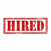 Hired-stamp