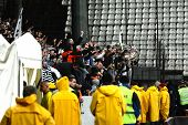 Footabll Hooligans Fight Against Police