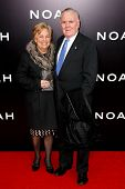 NEW YORK-MAR 26: Former U.S. ambassador to the Vatican Raymond L. Flynn (R) and wife Catherine attend the premiere of