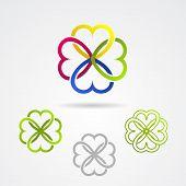 Clover leaf vector icon set