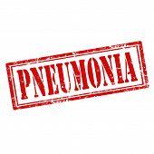 picture of pneumonia  - Grunge rubber stamp with text Pneumonia - JPG