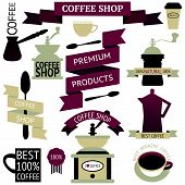 Vector set of vintage coffee icons