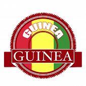 Guinea Flag Stamp