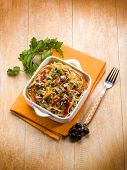 spaghetti with tuna capers olives and peppers