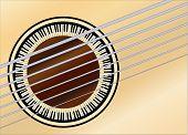 Guitar Piano Soundhole
