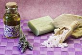 lavender spa accessories