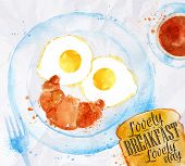 Постер, плакат: Breakfast smile eggs