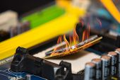 High Performance Personal Computer Cpu On Fire