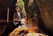 Waterfalls Janosikove Diery In Slovakia