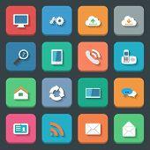Communication Icons Set Flat Design