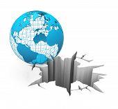 globe on the brink