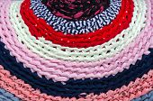 Knitted Colorful Rustic Rug
