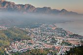 Aerial View Of Kemer City, Mediterranean Resort, Antalya Province, Turkey