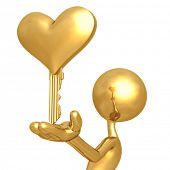 Golden Heart Key