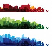 over print cityscapes