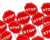 the stop signs