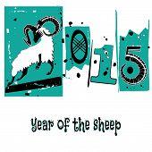 Chinese Symbol Vector Goat 2015 Year Illustration Image Design.