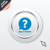 Help point sign icon. Question symbol.