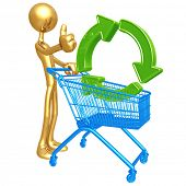 Shopping Cart Green Recycling