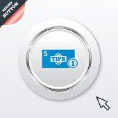 Tips sign icon. Cash money symbol. Coin.