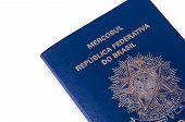 Brazilian Passport On White Background