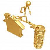 Golden Key Bridge Between Home And Euro Coins