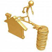 Golden Key Bridge Between Home And Yen Coins