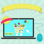 Buy-toys-online-through-laptop