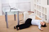 Businesswoman Fainted On Floor