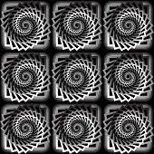 Design Seamless Monochrome Vortex Twisting Pattern