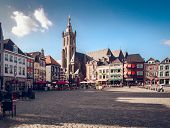 Roermond, Netherlands-september 12, 2014: Day View Of Market Square, It Is Popular Touristic Place,