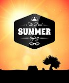 Poster summer theme, healthy life style