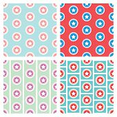 Star In Circle Seamless Pattern Background