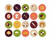 Flat icons set 30