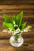 Lilies Of The Valley In Vase