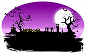 stock photo of spooky  - vector illustration of a spooky halloween background - JPG