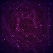 Abstract space with purple and violet stars