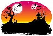 Halloween Silhouette Background