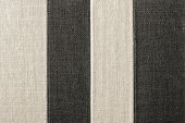 Striped Texture Of Rough Fabric Black-beige Color