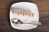 Diet Word On Table