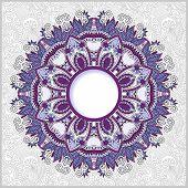 floral round pattern in ukrainian oriental ethnic style