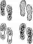 Shoes print grunge