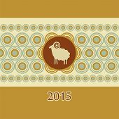 Decorative Ram New Year Card Christmas
