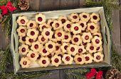 Christmas Biscuits With Jam