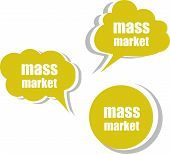 Mass Market. Set Of Stickers, Labels, Tags. Business Banners