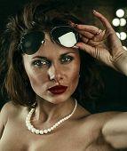 Sexy Woman Wearing Sunglasses