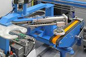 stock photo of robotics  - Conveyor belt with automated robotic system equipment - JPG