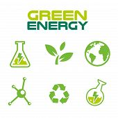 Think Green Safe The Earth Icon Set