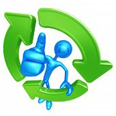 Recycling Giant Thumbs Up